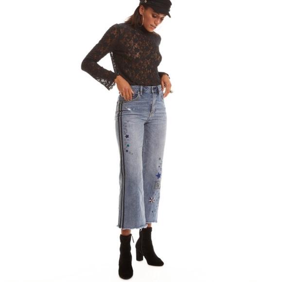 7d64f3cf1136 🍃💕NWT Odd Molly Crop Wise Leg Swing Denim Jeans